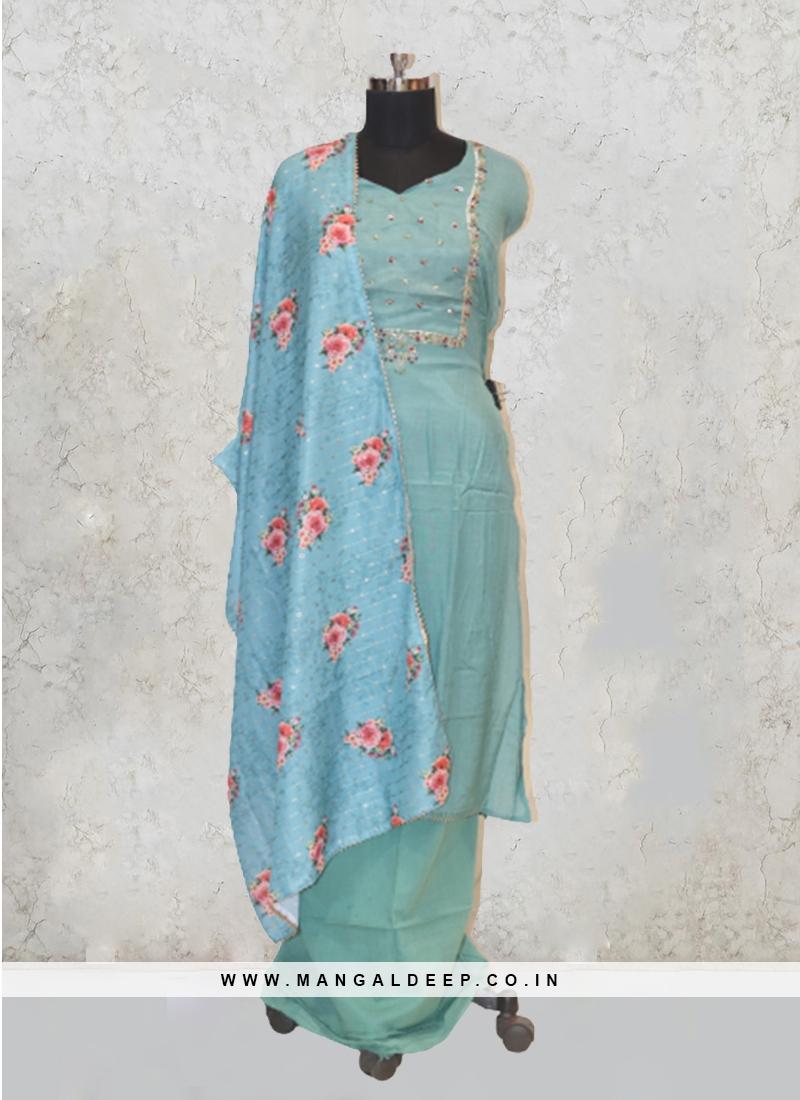 Yellow Chanderi Silk Patch Work Salwar Kameez