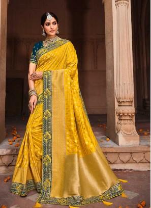 Yellow Color Dolla Silk Saree