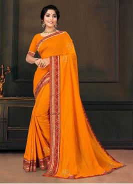 Yellow Color Silk Amazing Saree