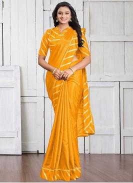 Yellow Color Silk Cotton Haldi Wear Saree