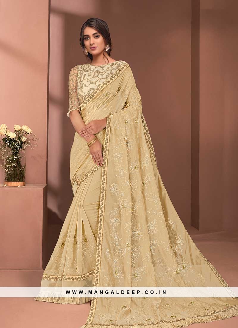 Yellow Color Tissue Haldi Wear Saree